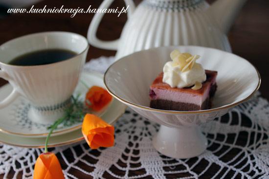 Sernik czekoladowo-wiśniowy