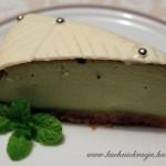 Sernik z zieloną herbatą
