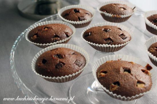 Babeczki kakaowe z kawałkami czekolady i chilli