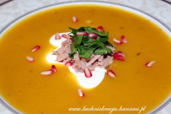 Zupa dyniowa z tuńczykiem