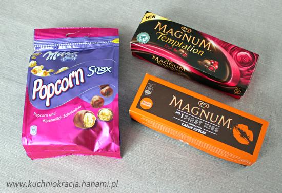 Popcorn w czekoladzie oraz limitowana edycja lodów Magnum,Hanami®