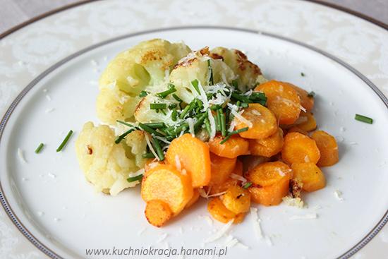Kalafior smażony na maśle z młodą marchwią, Hanami®