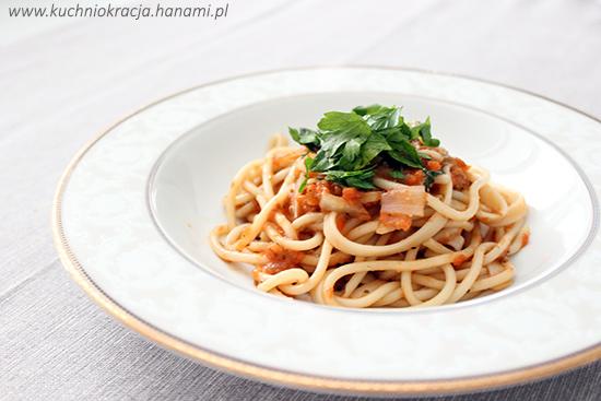 Makaron z sosem z żółtych pomidorów, Fot. Hanami®
