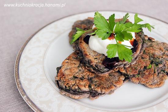 Fioletowe placki z brokułami, Fot. Hanami®