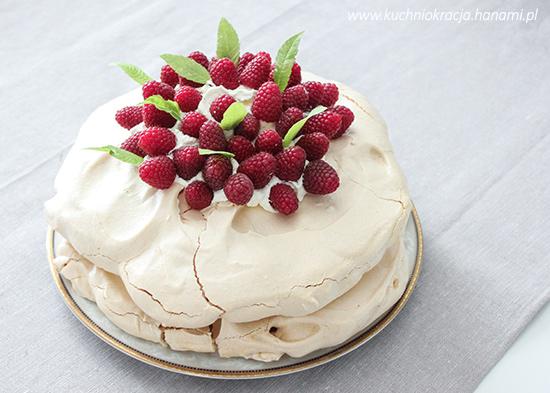 Tort bezowy z malinami,  Fot. Hanami®