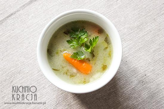 Zupa ogórkowa z ryżem, Fot. Hanami®
