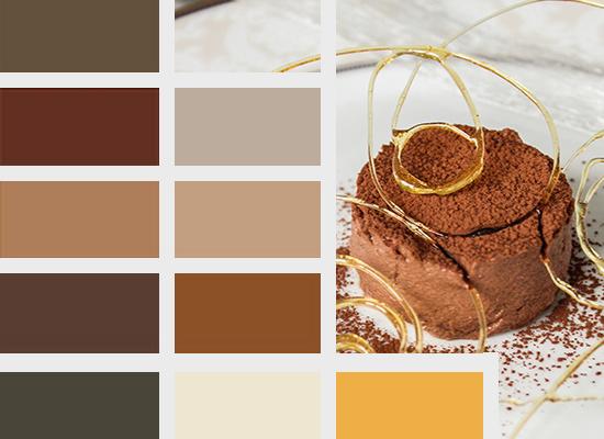 Trendy kolorystyczne 2014, kolory idealne dla deserów czekoladowych i kawowych