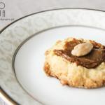 Ciasteczka z kajmakiem i migdałami
