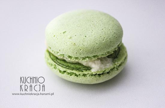 Zielone makaroniki z kremem lemon curd - idealne na święta, Fot. Hanami®
