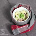 Makaron gnocchi z kiełbasą w kremowym sosie