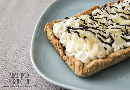 Mazurek z kremem z mascarpone, migdałami i czekoladą, Fot. Hanami®