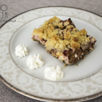 Ciasto rabarbarowe na spodzie z płatków owsianych