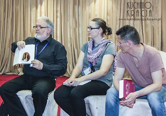 Panel o słodyczach, wraz z Janezem Bogatajem  oraz Georgem Bernardini