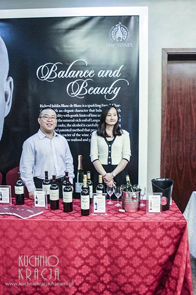 Stoisko chińskiego producenta wina