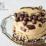 Tort z kremem czekoladowym i orzechami laskowymi