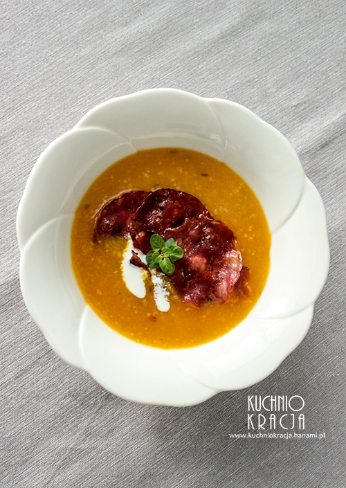 Zupa z dyni z kindziukiem, kuskusem i chilli, Fot. Hanami®