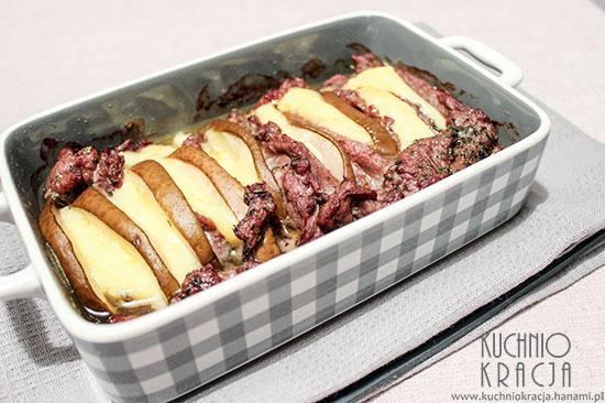 Zapiekanka z wołowiny, gruszek i sera,  Fot. Hanami®