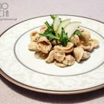 Makaron z boczkiem, cebulą, czosnkiem, mascarpone i gorgonzolą