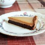 Ciasto czekoladowe bez mąki z kremem kajmakowym