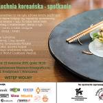 Spotkanie o kuchni koreańskiej – zaproszenie