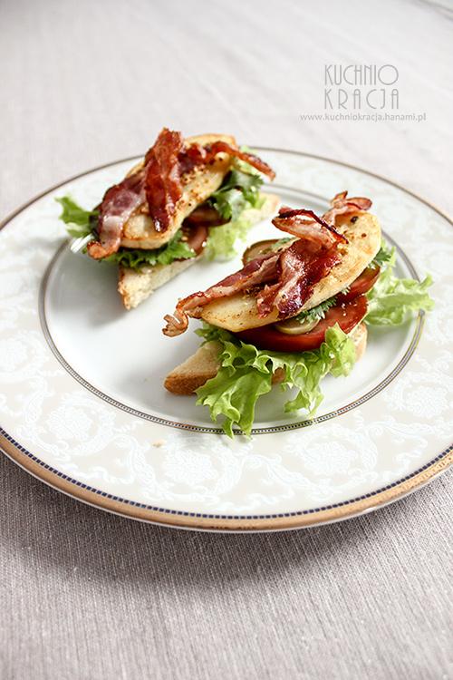 Tosty z boczkiem, ziemniakiem, sałatą, ogórkiem i kolendrą (Idaho) – Rok z kuchnią USA, fot. Hanami