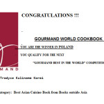 """Tradycje kulinarne Korei"" nominowane do Gourmand World Cookbook Awards"