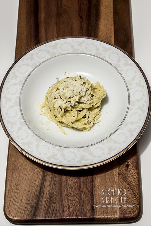 Makaron z serem owczym i orzechami włoskimi, Fot. Hanami
