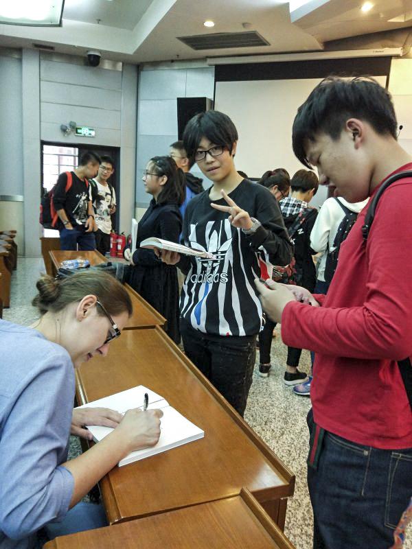 Spotkanie w Pekińskim Uniwersytecie Studiów Międzynarodowych Er Wai