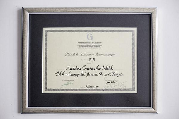 """Prix de la Littérature Gastronomique dla książki """"Polish Culinary Paths"""", Fot. Hanami"""