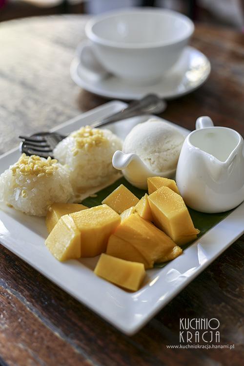Kleisty ryż z mango z restauracji Tom Yum Kung, Bangkok