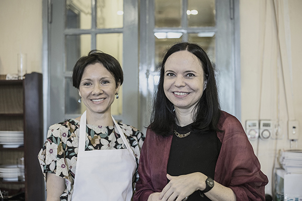 Pani Ambasador Barbara Szymanowska i Pani Justyna Wudarska