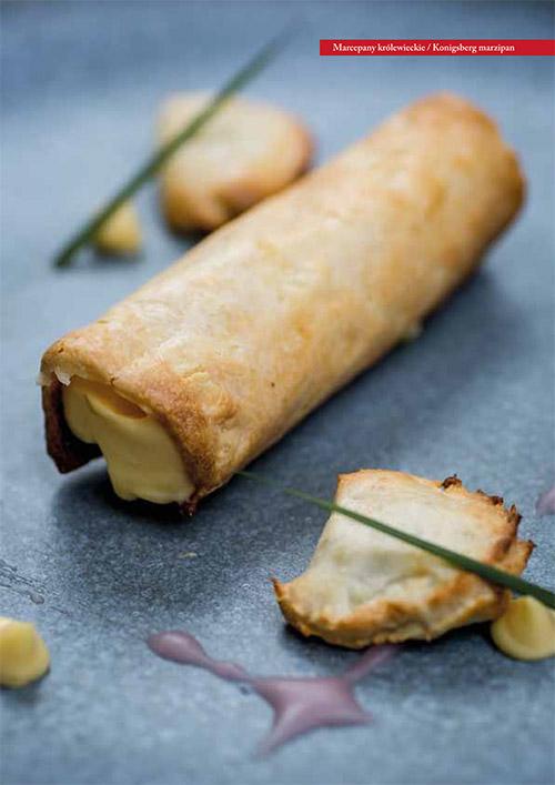 """Cannelloni marcepanowe z kremem z trawy żubrowej - przepis z książki """"Sto receptur na sto lat niepodległości"""" (MAKRO)"""