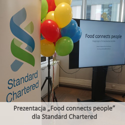 "Prezentacja ""Food connects people"" dla Standard Chartered"