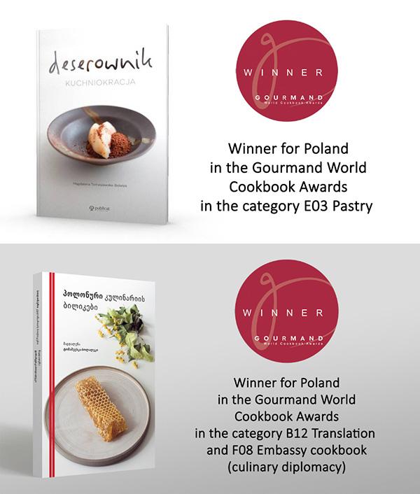 """Deserownik"" i ""Polish Culinary Paths"" w konkursie Gourmand World Cookbook Awards"